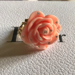Betsey Johnson Oversized Floral Ring